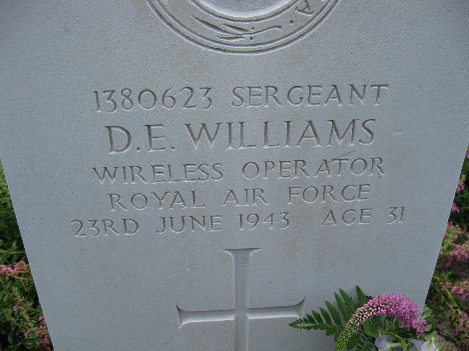 Headstone from recent visit in 2013